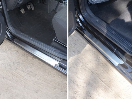 Накладки на пороги (лист шлифованный) Datsun on-DO 2015